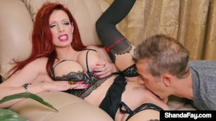 Canadian Cougar Shanda Fay Creams Her Cunt On Husband!